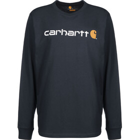 Carhartt Core Logo Longsleeve Top Men, navy